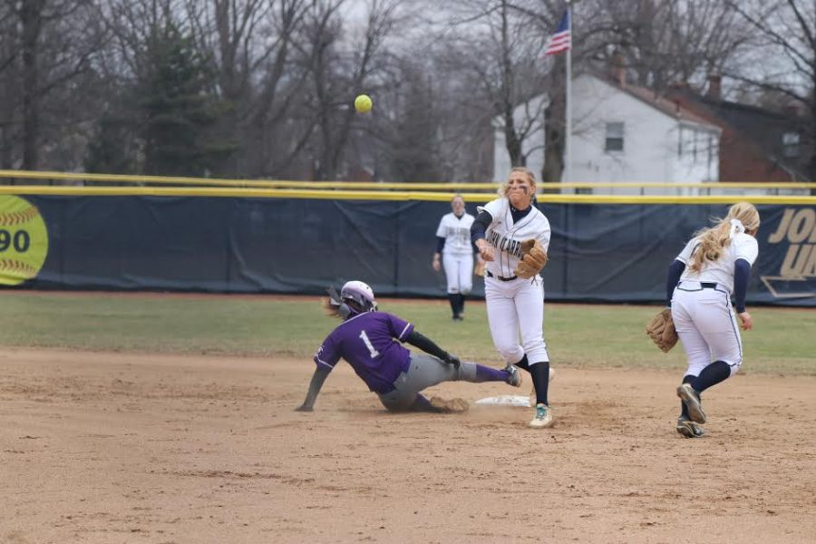 enior+infielder+Lindsay+McKnight+looks+to+turn+a+double-play+in+the+softball+home+opener+against+Capital+University+at+Bracken+Field+on+Sunday%2C+March+24.+
