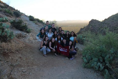 Pictured above is Sara Schiavoni with a group of students who went on the U.S./Mexico Border Immersion.