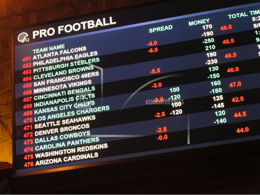 NFL At 100 Sports Betting Image ID : 19254695092756 FILE - In this Aug. 1, 2018, file photo, a board at Harrah's casino in Atlantic City, N.J. lists the odds on pro football games in the first week of the NFL season. The NFL has been remarkably free of betting scandals as it celebrates its 100th season, despite a few hiccups in earlier days. Whether through good fortune, extreme vigilance or even the help of legal bookies in Las Vegas, there hasn't been a legitimate documented attempt to fix an NFL game in the modern era. (AP Photo/Wayne Parry, File)