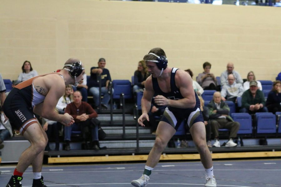 Sophomore+Luke+Reicosky+competes+in+the+JCU+Open+at+John+Carroll+University.