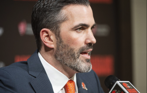 Cleveland Browns new NFL football head coach Kevin Stefanski answers a question during a news conference at FirstEnergy Stadium in Cleveland, Tuesday, Jan. 14, 2020.