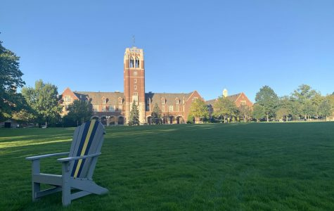 Hamlin Quad, an area that was once active with sports, now sits empty.