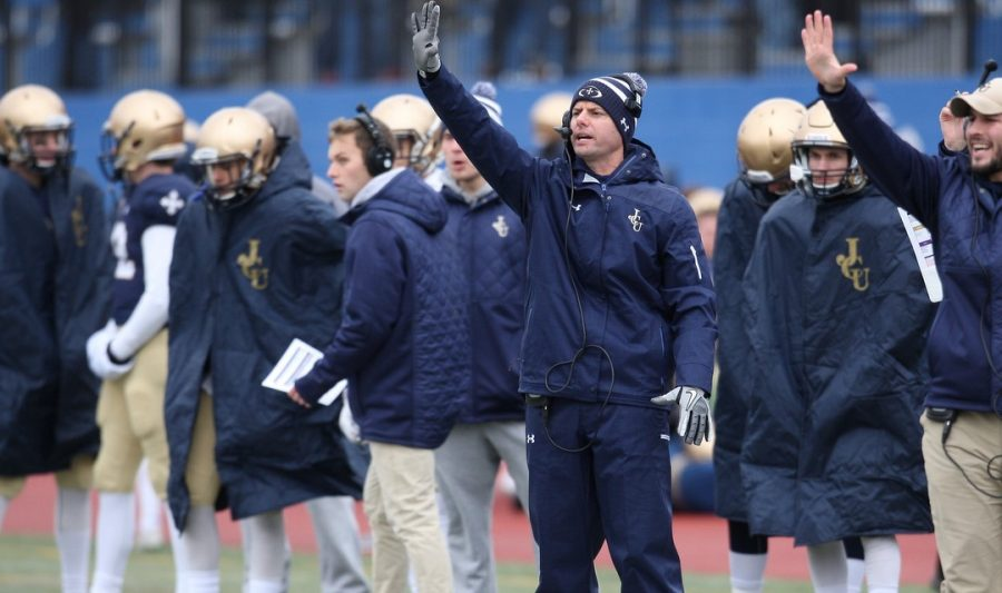Brandon Staley coaches in a game for John Carroll