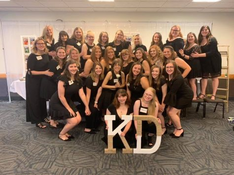 Before the COVID-19 pandemic, members and potential members of Greek life would participate in an abundance of activities. Pictured is Kappa Delta in 2019 during Preference Day, where potential members will submit their sorority preferences. Photo courtesy of Meg Frankenberger.