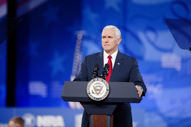 Mike Pence addresses CPAC in 2017.