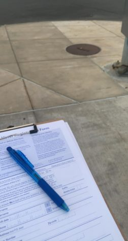 Voter registration ended on Oct. 9 in New York state. On Oct. 8, I stood on the corner outside of the dining hall on Syracuse University's campus and registered students to vote. Read up on your state's voting laws, and prepare to use your right to vote! (Photo by Aiden Keenan).