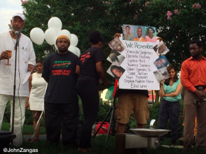 A vigil at the African American Civil War Memorial in Washington after the Charleston, South Carolina church shootings.