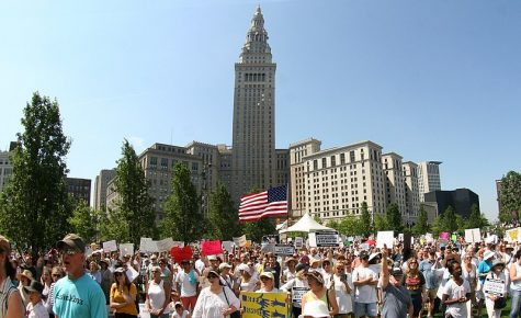 Rally to end family separation in Cleveland, Ohio, June 30, 2018