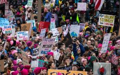 On 21 January 2017, the day following the inauguration of Donald Trump, an estimated one-half  of a million peaceful protestors listened to speakers, music, and then marched in Washington, D.C. Close to five million may have marched world-wide.