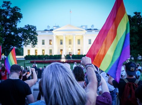 An image from the 2017 Protest Trans Military Ban in front of the White House