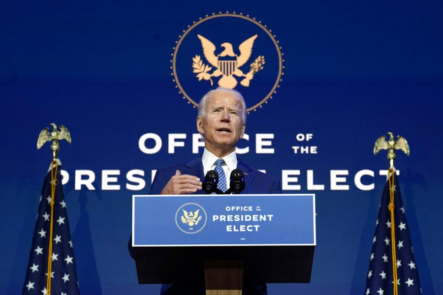 President-elect+Joe+Biden+speaks+Monday%2C+Nov.+9%2C+2020%2C+at+The+Queen+theater+in+Wilmington%2C+Del.+%28AP+Photo%2FCarolyn+Kaster%29