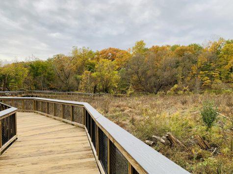 A path at the Nature Center at Shaker Lakes near JCU.