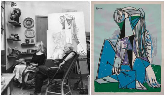 Picasso an Sylvette (Lydia Sylvette David