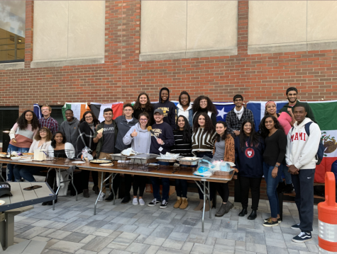 "At the 2019 event ""Black and Brown Get Down,"" on the LSC steps of Keller commons. BSA, MESA, SASA, African Dounia and the JCU French Club participated in this event hosted by LASA in celebration of cultures, and unity at JCU."