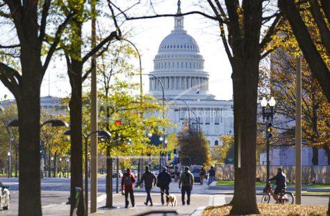 The Capitol is seen in Washington, Monday, Nov. 16, 2020, as the House and Senate return to work. (AP Photo/J. Scott Applewhite)