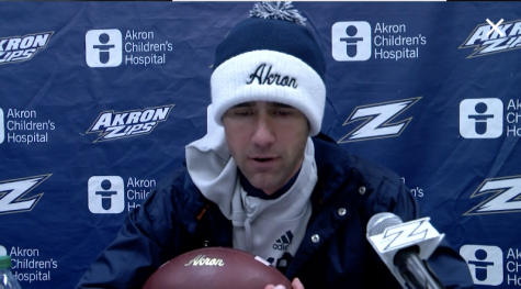 Tom Arth after the Akron vs. Bowling Green football game.