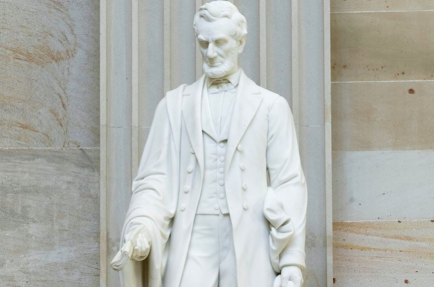 Abraham Lincoln Statue. Image from The Architect of the Capitol (aoc.gov).