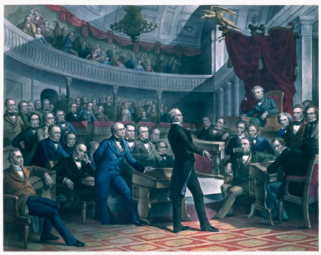 The United States Senate in 1850. Image from the United States Senate