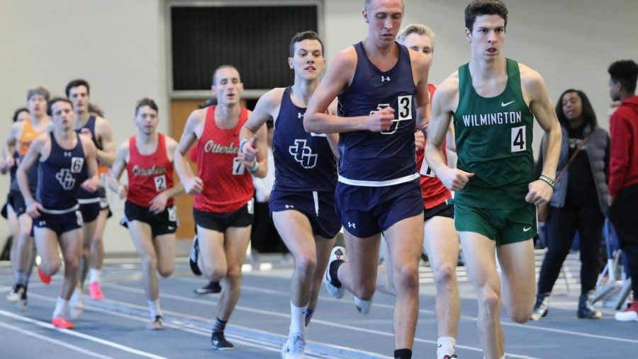 Alex Phillip (front, JCU) and Jamie Dailey (back, JCU) race in the OAC Championship on March 5.