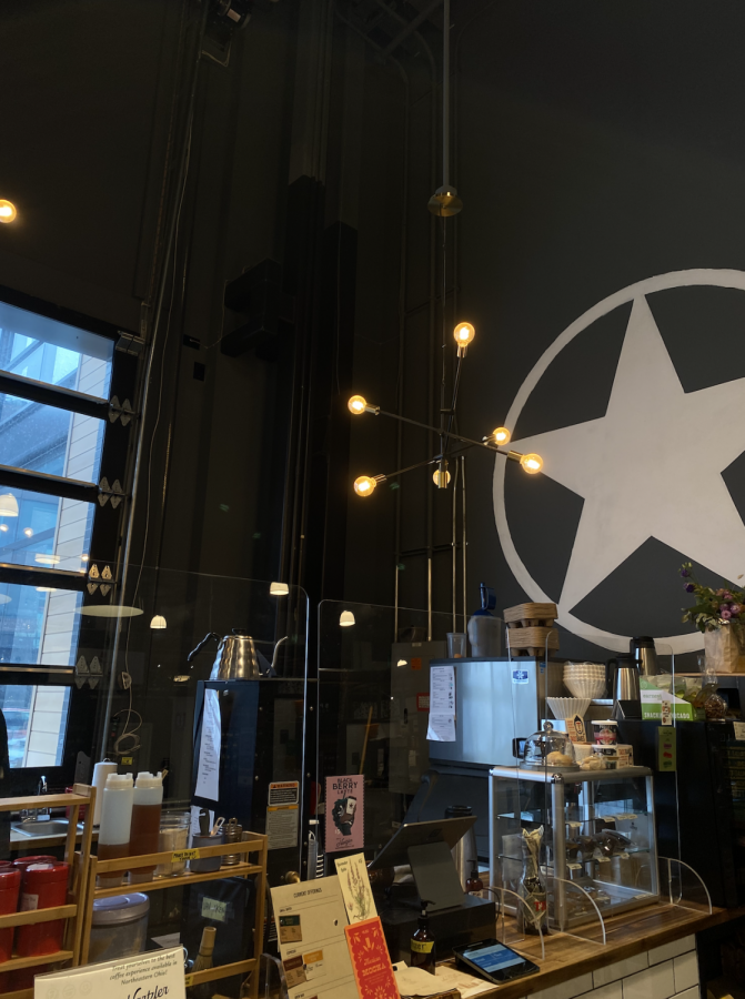 At the very front of Van Aken Market Hall, Rising Star offers classic coffee options with many seating options surrounding.