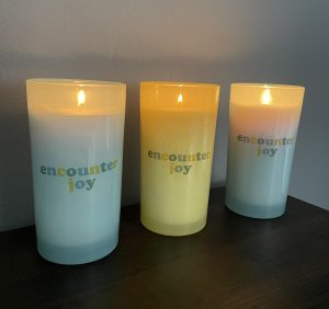 The Encounter Retreat Team gave these candles to everyone who went on the retreat. (Photo courtesy of Josie Schuman)