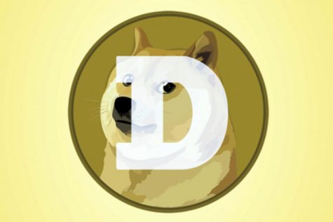 "This mobile phone app screen shot shows the logo for Dogecoin, in New York, Tuesday, April 20, 2021. Dogecoin, the digital currency advertised as the one ""favored by Shiba Inus worldwide,"" is having its day. Fans of the cryptocurrency are touting April 20, long an unofficial holiday for marijuana devotees, as ""Doge Day"" and imploring each other to get its value up to $1."