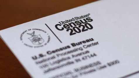 This April 5, 2020, file photo shows an envelope containing a 2020 census letter mailed to a U.S. resident in Detroit. Michigan