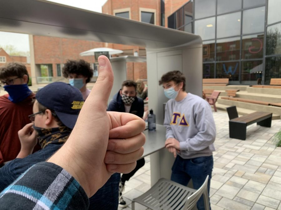 Most events were outdoors or virtual this year, but students remain optimistic for next year. Cullen reports that students still remained in high spirits to see one another and enjoy time together.  (Photo courtesy of Demitri Cullen '21).