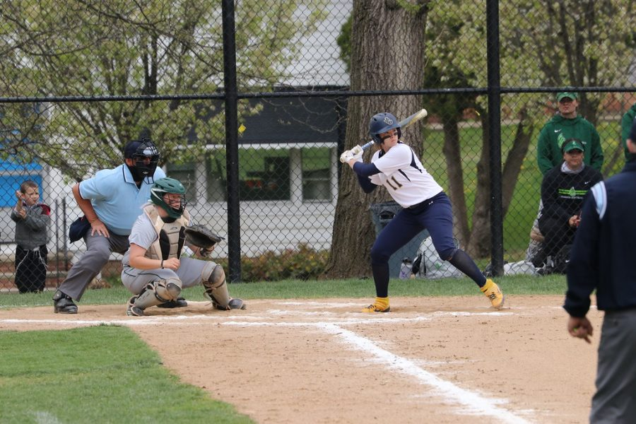 Junior Emma Gurley hitting during John Carroll's victory on Saturday afternoon over Wilmington at Bracken Field