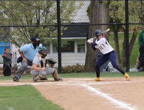 Junior Emma Gurley hitting during John Carroll