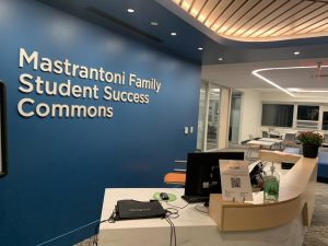 The Mastrantoni Family Student Success Commons welcome students to study, visit the Career Center or the Academic Success Center. (Photo by Aiden Keenan '22).