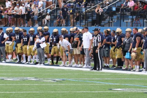 The sideline and stands of John Carroll