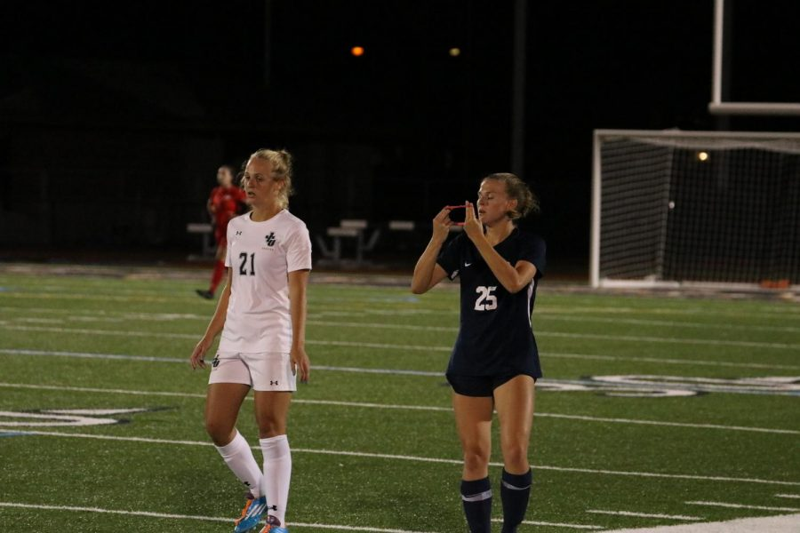 Bella DeCicco competing in a game for John Carroll University in the spring 2021 season. DeCiccos goal lifted the Blue Streaks over Washington & Jefferson in a 1-0 victory on Saturday, Sept. 25.