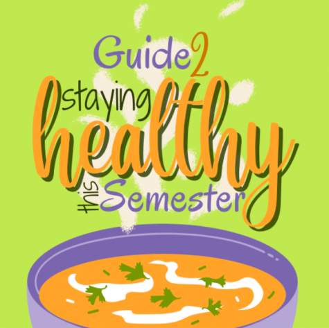 Stay healthy during this semester with Natalia Barones guide to avoiding cold and flu season. Graphic by Corinne McDevitt.