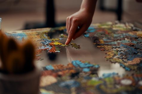 Like putting together a puzzle, writing stories is about creating a picture.