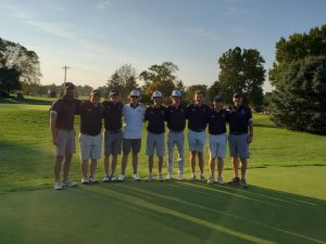 The JCU Mens Golf Team after capturing a first place finish at the OAC Fall Preview on Sunday, Oct. 10.