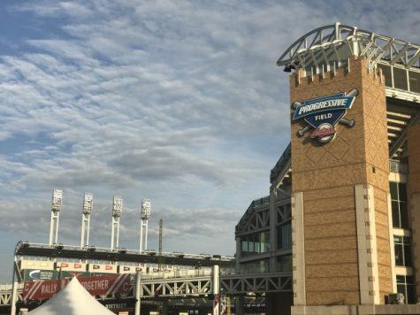 Progressive Field in downtown Cleveland. Progressive Field serves as the home of the Cleveland Indians/Guardians.